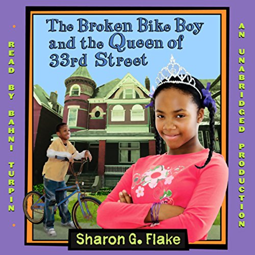 The Broken Bike Boy and the Queen of 33rd Street audiobook cover art