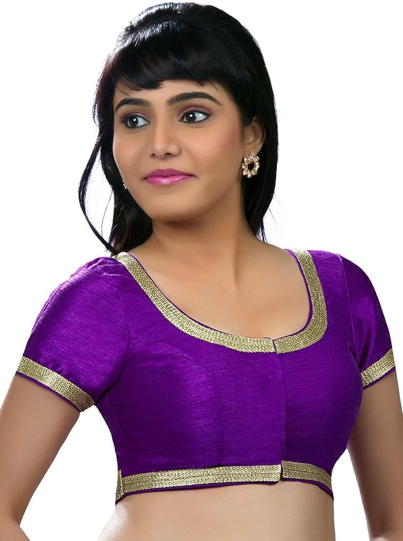 Saris and Things Brinjal color Partywear Silk Saree Blouse Sari Choli X256SL