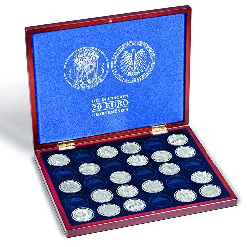 Leuchtturm 350494 Münzkassette Volterra UNO für 30 deutsche 20 Euro Gedenkmünzen in Münzkapseln| Deckel- und Kissendruck mit Münzmotiv Rotkäppchen