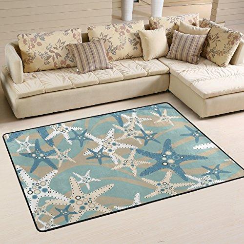 DEYYA Starfish - Kids Children Area Rugs Non-Slip Floor Mat Resting Area Doormats 36 x 24 inches