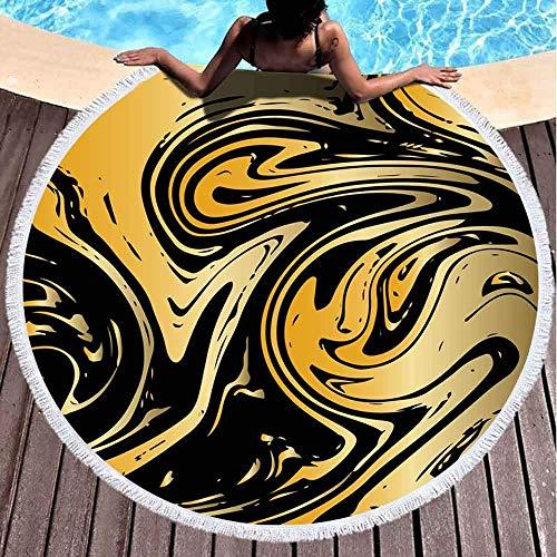 Nazi Mie Strandtuch Gold Hintergrund Quadrat Marmorierung Textur Schwarz VIP Rich Golden Splash Celebration Design Stranddecke