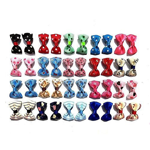 Aoyoho Pack of 40pcs/20pairs Baby Pet Dog Hair Clips