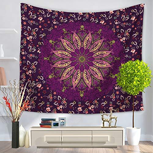Morbuy Mandala Tapisserie Tentures Murales, Hippie/Psychedelique Bohemian Rideaux Décoration Idéale Tenture Couverture Pique-Nique Nappe Serviette de Plage Salon (130 x 150cm, Fleur de Poisson)
