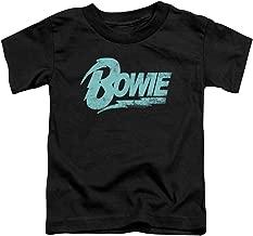 David Bowie Logo-S S Toddler Tee-Black(2T)
