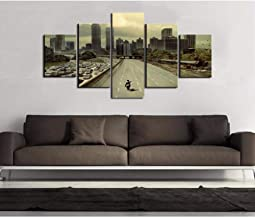Dxcclf 5 Panel Painting Drop Shipping Hd Printed The Walking Dead Zombies Painting Canvas Print Home Decor Print And Poster Picture