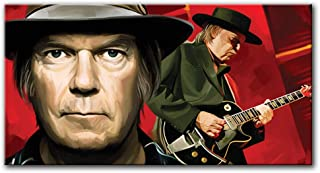 Neil Young Original Artwork Artist Signed Canvas Art Print (Large 36