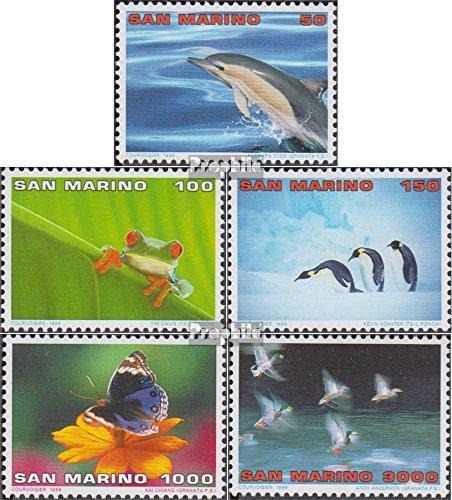 Prophila Collection San Marino 1645-1649 (kompl.Ausg.) 1996 Ökotourismus (Briefmarken für Sammler) Vögel