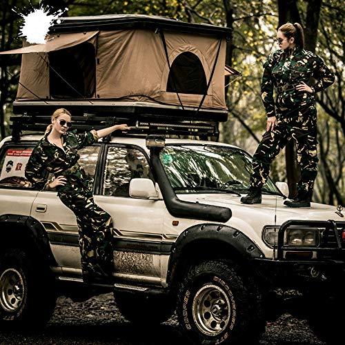 XPHW Dachzelt Camping ABS Autozelt, Geeignet Für 2-3 Erwachsene Camping- Und wasserdichte Autodachzelte.