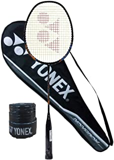 Yonex Nanoray Light 18i Graphite Badminton Racquet (77g, 30 lbs Tension) & Full Cover with 1Grip