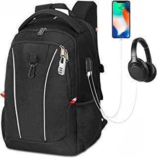 Travel Laptop Backpack,Extra Large College School Backpack with USB Charging Port,Password Lock,Water Resistant Business Computer School Backpack Fit 17 Inch Laptop and Notebook