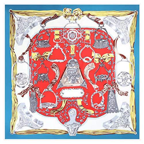 LSWYQM 100% twill zijde vrouwen sjaal mode Parijs tuin print stoelen plaats bandana halsdoek vrouwelijke sjaal wraps
