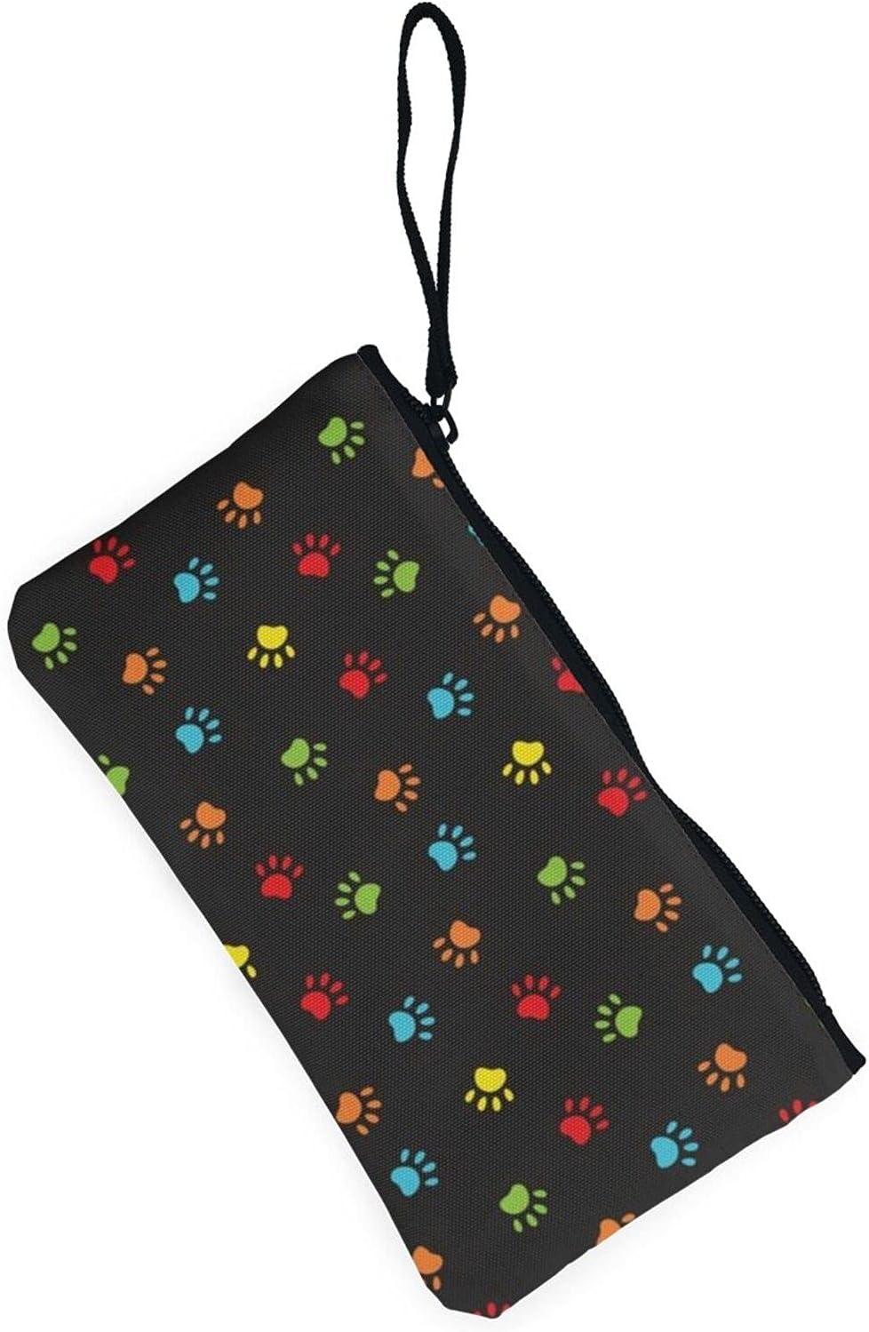 AORRUAM Colorful cow print Canvas Coin Purse,Canvas Zipper Pencil Cases,Canvas Change Purse Pouch Mini Wallet Coin Bag