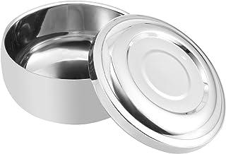 ROSENICE Shaving Bowl Men's Durable Shaving Soap Bowl with Lid Large Deep Size Shaving Mug Container