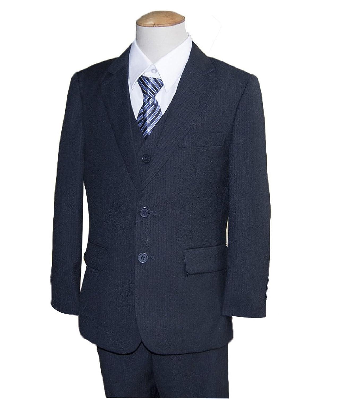 男子 子供スーツ(ネイビー/2つボタン/スリーピース) 5点セット サイズ120cm~145cm