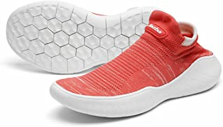 Sock Sneakers Women Walking Shoes Sockun Slip on Shoe Knitted Stretch Aerobics Mesh Breathable for Yoga Gym Traveling Running Sports Casual Leisure Moc Footwear