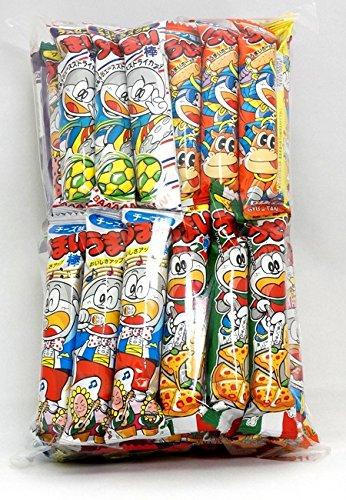 """Assorted Japanese Junk Food Snack """"Umaibo"""" 50 Packs of 11 Types Umaibo"""