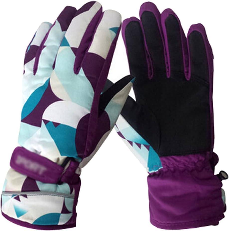 Alien Storehouse Winter Ski Gloves Outdoor Fashion Cycling Gloves Purple Travel Mittens