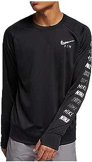 [ナイキ] メンズ ランニング 長袖Tシャツ ペーサー プラス GX HBR クルー ブラック/ホワイト/リフレクトシルバー AT7851 010