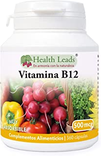 Vitamina B12 metilcobalamina 500μg 360 cápsulas|Sin estearato
