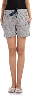 NITE FLITE Women's Bear Hugs Cotton Shorts