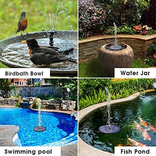 Biling Solar Bird Bath Fountain Pump 2 Buy Online In El Salvador At Desertcart