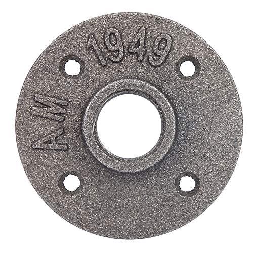 Base de brida, 10 piezas Hierro fundido 4 agujeros 85 mm DN20 Brida Base de tubería Rosca Brida de piso