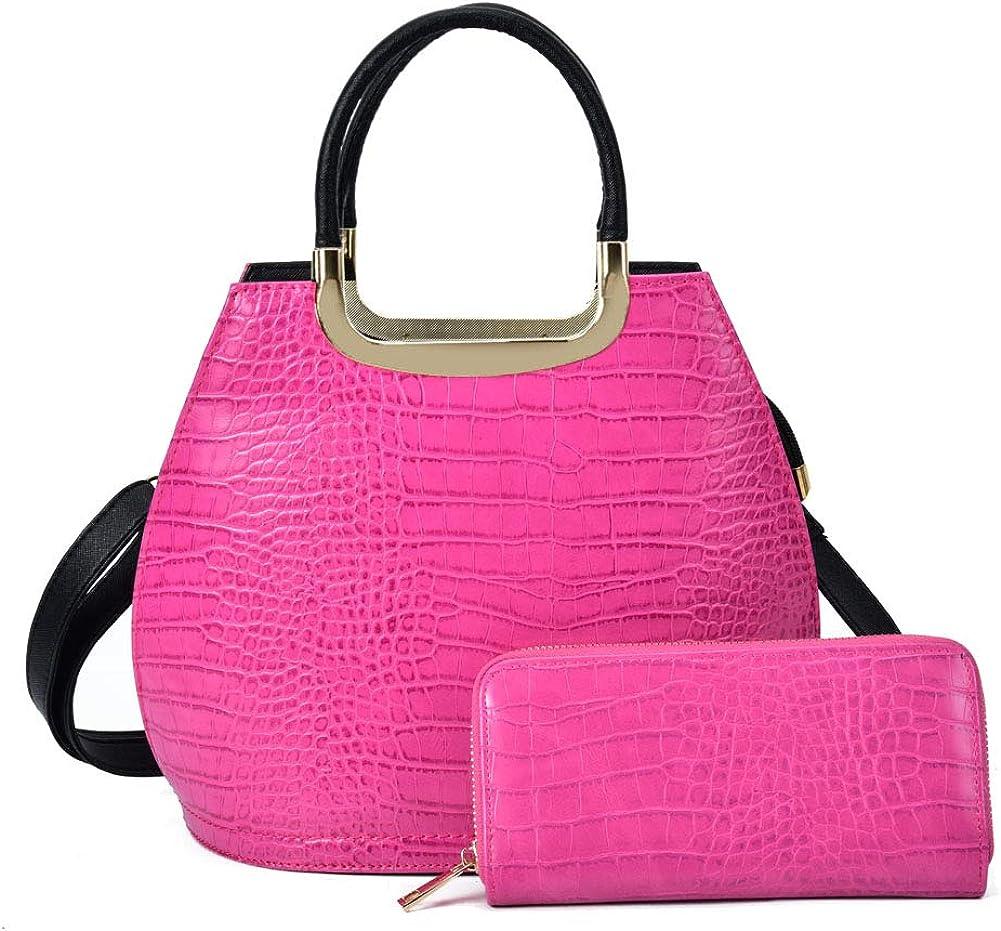 Glitzall Detroit Mall Women's Handbag Sets Handle with Credence Purse Mat Tote Satchel