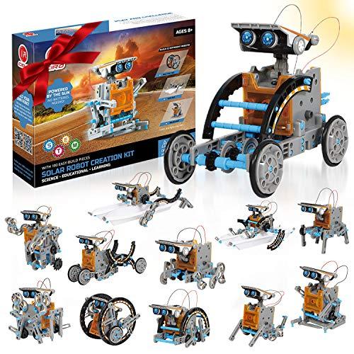 CIRO 190 Pièces - ensemble de robots solaires - solariums de construction Enfant Robots 12 en 1, STEM Toys à ...