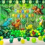 Yoazroan Dinosaure Décorations de Fête d'anniversaire Fournitures de fête de Dinosaure Ballons Dinosaures pour Les Enfants Cadeaux de fête à thème d'anniversaire