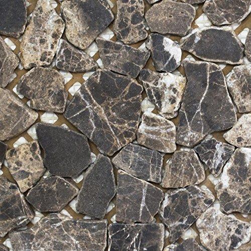 Mosaik Fliese Marmor Naturstein beige Bruch Ciot Castanao für BODEN WAND BAD WC DUSCHE KÜCHE FLIESENSPIEGEL THEKENVERKLEIDUNG BADEWANNENVERKLEIDUNG Mosaikmatte Mosaikplatte