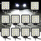 VINGO 10X 48W LED Arbeitsscheinwerfer Flutlicht Offroad...