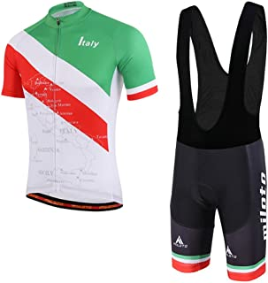 Uriah Men's Cycling Jersey Bib Shorts Black Sets Short Sleeve Reflective