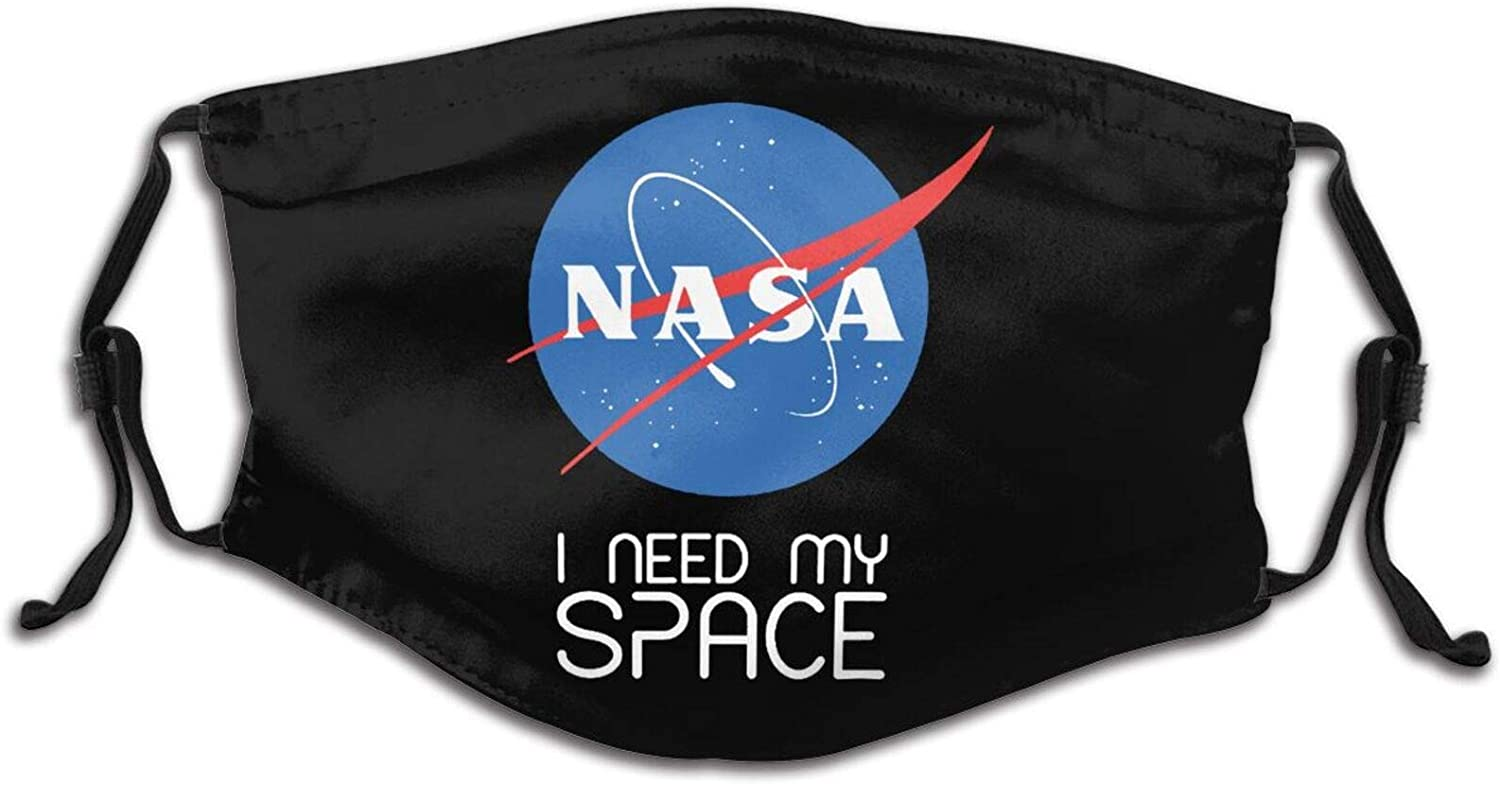 I Need My Space NASA Logo Kids Mask Breathable Sports Face Mask Reusable Mouth Protection