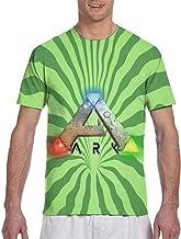 Actuallyhome Ark-Survival-Evolved Camiseta clásica de Manga Corta con Estampado a Doble Cara para Hombre, Camiseta con Cuello Redondo
