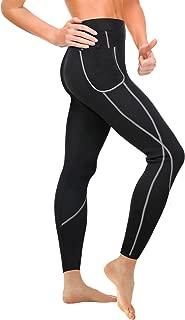 Wonderience Women Sauna Weight Loss Slimming Neoprene Pants with Side Pocket Hot Thermo Fat Burning Sweat Leggings