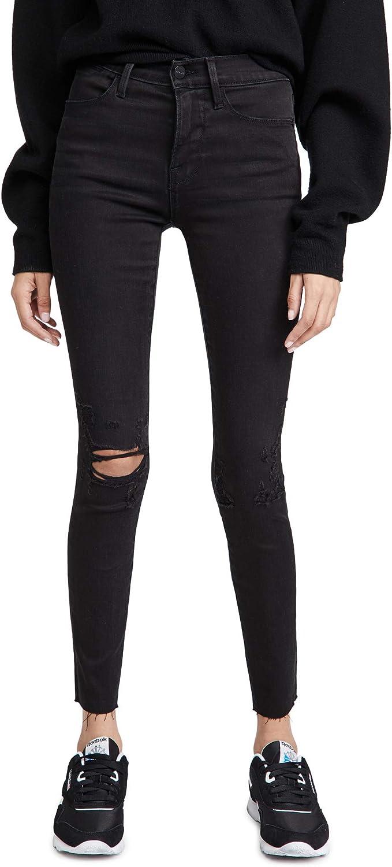 FRAME Women's Le High Skinny Raw Edge Jeans