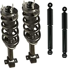 DTA 70096 Full Set 2 Front Complete Struts with Springs and Mounts + 2 Rear Shocks 4-pc Set, 2007-2013 Chevrolet Silverado 1500, 2007-2013 GMC Sierra 1500 4WD, RWD Crew Cab, & RWD Extended Cab (Exc. Electric Ride Control)