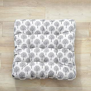 Plant Flower Pattern Seat Cushioning, Square Tatami Chair Pad Large Comfortable Outdoor Non-slip Washable Seat Pad-u L55xw...