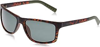 نظارات شمسية للرجال باطار مستطيل من نوتيكا، بلون صدفة السلحفاة غامق بدون لمعة