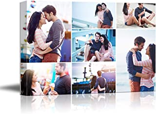 NWT Custom Canvas Prints with Your Photos Collage Idea, Personalized Canvas Pictures for Wall to Print Framed 8x10 inches