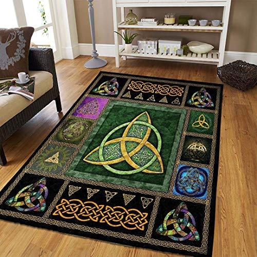 Celtic Rug Area Rugs for Living Room Bedroom Kitchen Bathroom Decorative Lightweight (2x3, 3x5, 4x6, 5x8)