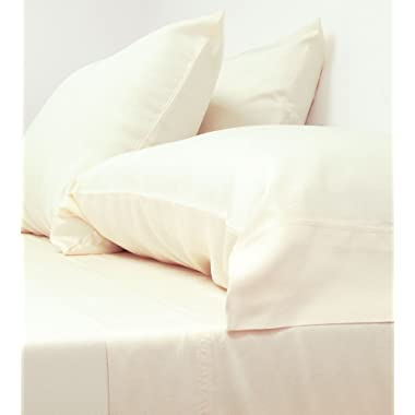 Cariloha Classic Bamboo Sheets 4 Piece Bed Sheet Set - Softest Bed Sheets and Pillowcases - 100% Viscose from Bamboo - 1-Year Limited Quality Warranty (Queen, Ivory)