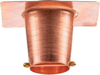 Marrgon Copper Gutter Adaptor with Rain Chain Hanger Clip for Decorative Chimes, Cups & Bells Serves as 2 Inch Rain Chain Installer for Downspout Outlet & Water Diverter for Gorgeous Fountain Display