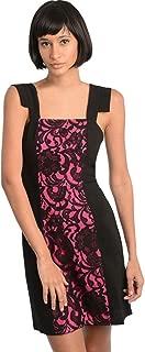 2LUV Women's Contrast Lace Inset Sheath Dress