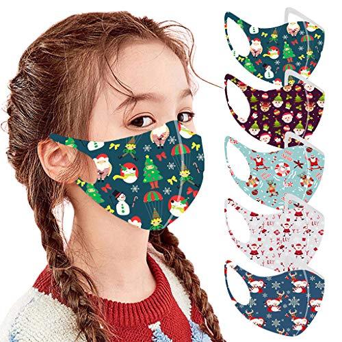 Preisvergleich Produktbild LANJIA Weihnachten Für Kinder - Wiederverwendbares und atmungsaktives Baumwollgesicht s 5 / 10 / 30PCS Unisex Protect Foggy Haze Anti-Spitting-Schutzgesicht á