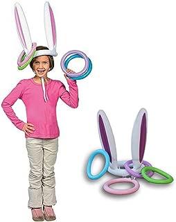 Jaminy Pascua hinchable Bunny Ears sombrero anillo Toss juego divertido niños fiesta Ferrule herramientas cumpleaños decoración niños al aire libre Gags juguetes