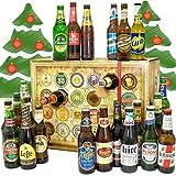 Bier Adventskalender Welt + Bierset Geschenk + Biersorten WELTWEIT + Adventskalender 2019 - mit 24 Biersorten in FLASCHEN + Bieradventskalender Welt 2019 + Weihnachtsgeschenke Bier für Männer