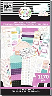 The Happy Planner Sticker Value Pack - Planner Accessories - Save Now Spend Later Theme - Multi-Color - Great for Budgetin...