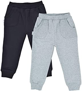 JAN & JUL Sweatpants, Joggers for Baby Toddler Kids, Boys or Girls 1pc or 2Pck, Cozy Soft Lined