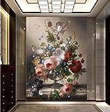 Yosot 3d Fototapete Einfache Und Romantische Wohnzimmer Dekorative Malerei Edle Vase Große Wandbild Tapete-140Cmx100Cm
